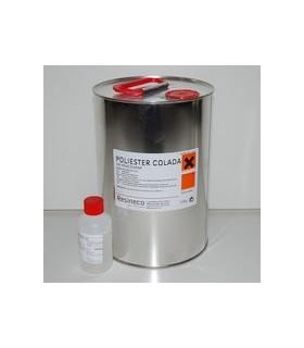 Resina de Poliester transparente para coladas OCL (incluye catalizador) 5 Kg