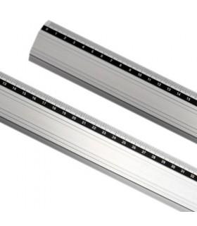 regla metálica aluminio antideslizante 50 cm x 4,2 cm