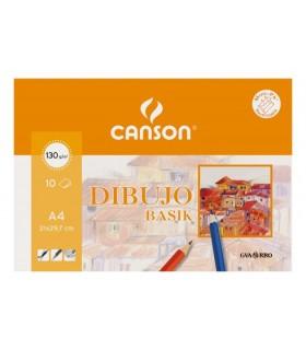 Papel Dibujo basik Canson A4 130g/m2 10 unidades