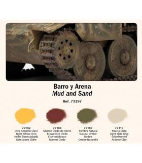 Set Pigmentos Vallejo nº2 Barro y arena