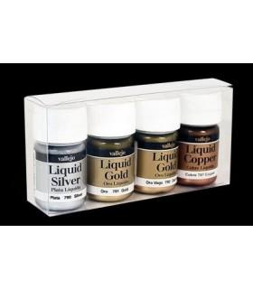 Set Oro líquido Vallejo 4u. 70199