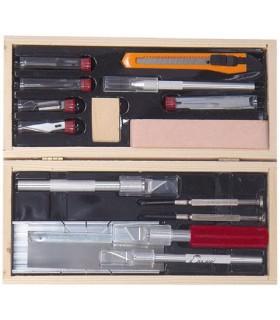 Set bisturis-cuchillas deluxe modelismo 44286