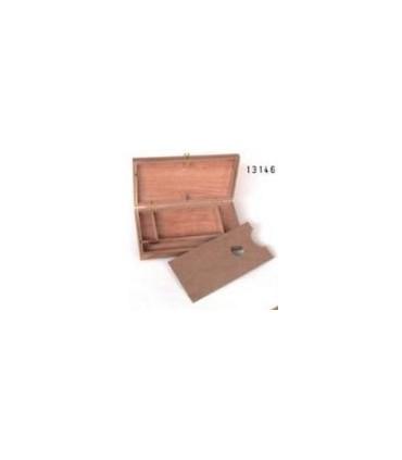 Caja de madera para pinturas y pinceles michel 13146