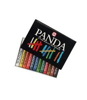 Caja cartón Talens Pasteles al óleo Panda 12 unidades 400C12