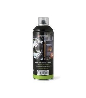 Spray Montana Alta Temperatura Negro 450ºC/400ml.