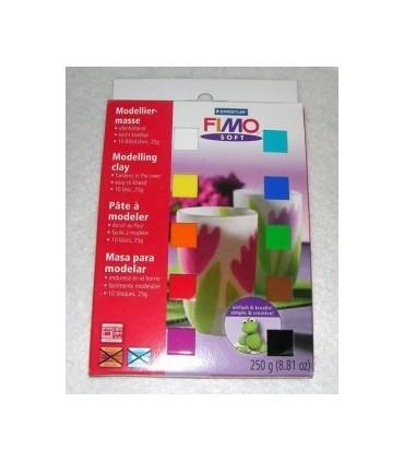 Set 10 colores 1/2 pastilla Fimo