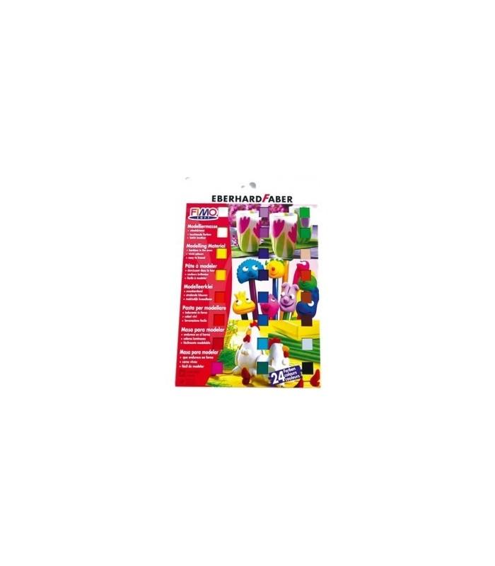Set 24 colores 1/2 pastilla FIMO