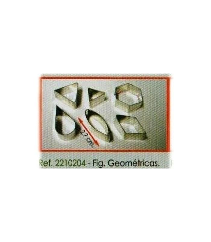 Juego 6 cortadores figuras geométricas 2210204