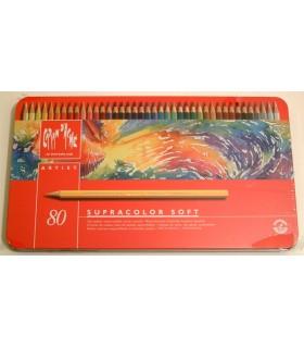 Caja metálica Caran D'Ache Supracolor Soft 80u.