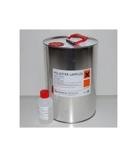 Resina de Poliester + catalizador para laminar FLEXIBLE (Baja emisión) 5 KG