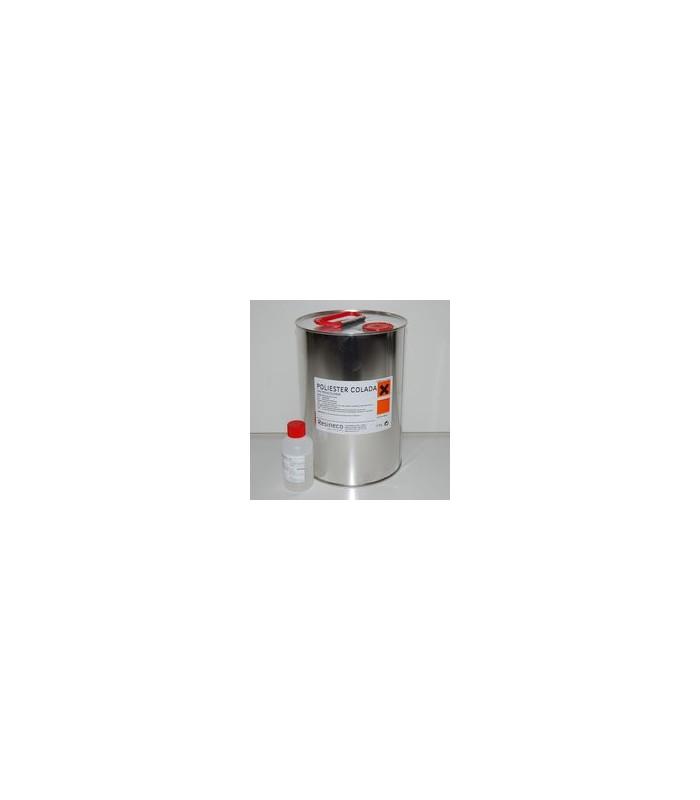 Resina de Poliester para colada (cobalto + catalizador) 5 KG