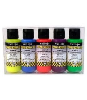 Set Premium Fluo Vallejo 5 colores