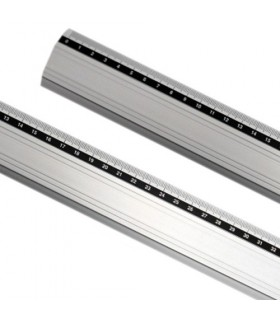 regla metalica aluminio antideslizante 30 cm x 4,2 cm