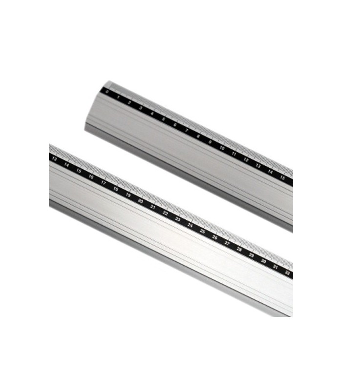 regla metálica aluminio antideslizante 40cm x 4,2 cm