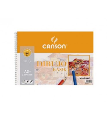 Bloc Dibujo Basik Canson A3+ 150g/m2
