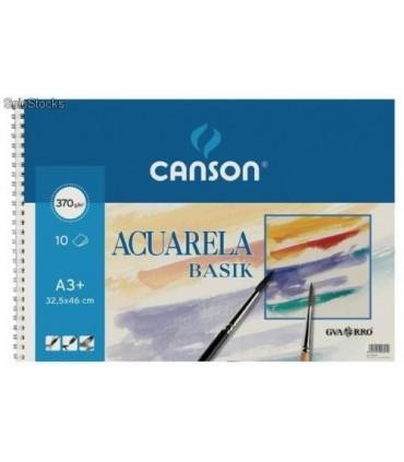 Bloc Acuarela Tempera Basik Canson A3+ 10 hojas