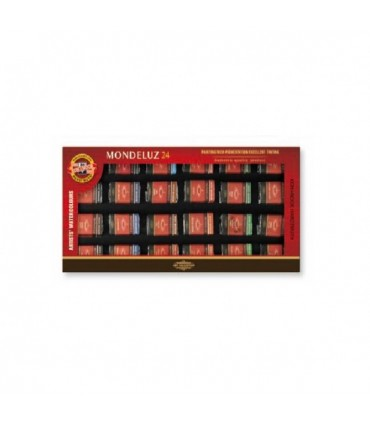 Set 24 pastillas acuarela Mondeluz Koh-i-Noor 163 624