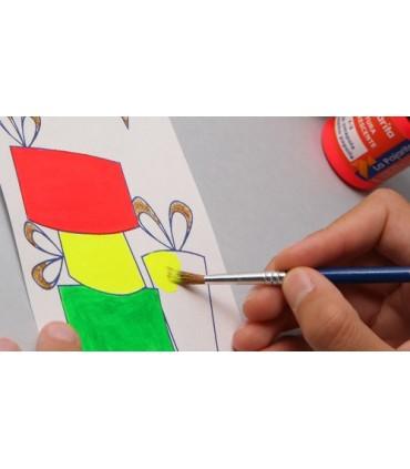 Surtido pintura fluorescente pajarita 35ml