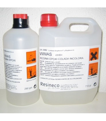 Resina Epoxi Colada incolora WWAS+WWB4 1kG