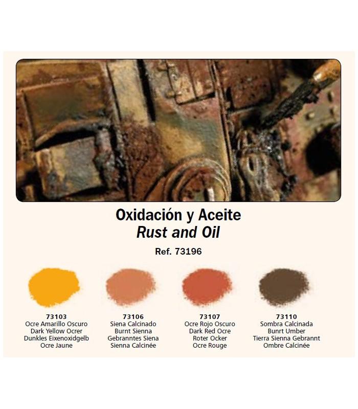 Set Pigmentos Vallejo nº1 Oxidación y aceite