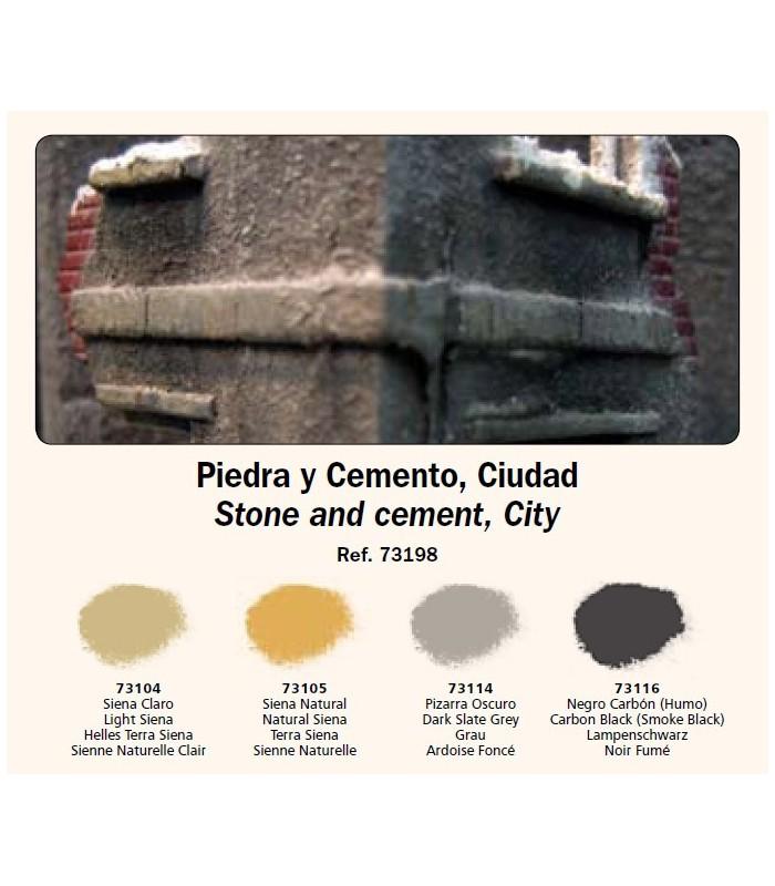 Set Pigmentos Vallejo nº3 Piedra y cemento, ciudad