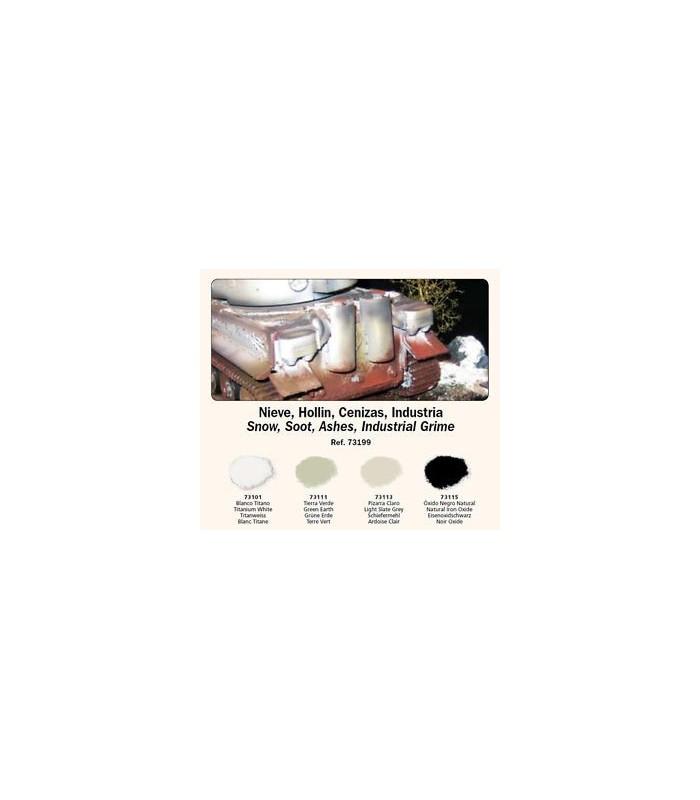 Set Pigmentos Vallejo nº4 Nieve, Hollin, Cenizas, Suciedad Industrial