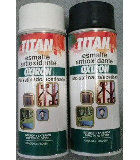 Spray Oxiron liso titan satinado 400ml