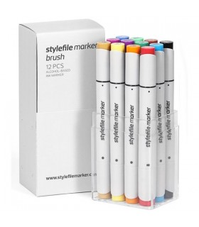 STYLEFILE MARKER SET BRUSH MAIN SET A