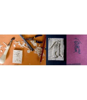 Plancha Grabado Print Block Milan 7x11,5x0,9Cm