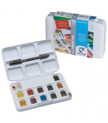 Caja acuarela Van Gogh 12+3 pastillas 20808632