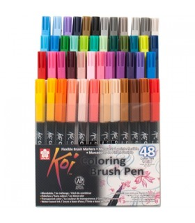 Set rotuladores Koi color brush 48 unidades