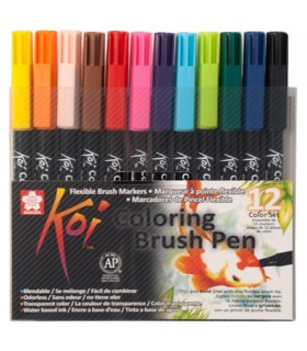 Set rotuladores Koi color brush 12 unidades