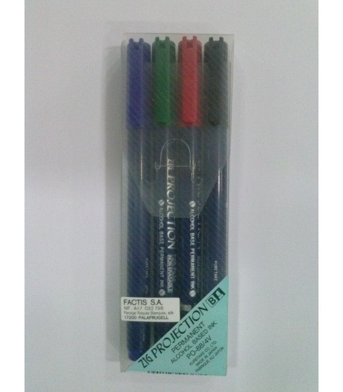 Set rotuladores kuretake PO-88/4V 4 colores