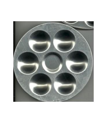 Paleta circular aluminio 6 pocillos