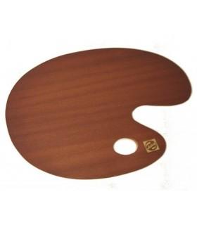 Paleta ovalda madera barnizada 30x40