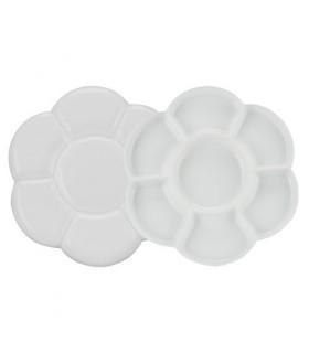 Paleta circular plástico doble 17x17
