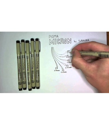Set Pigma Micron 3 punta finas