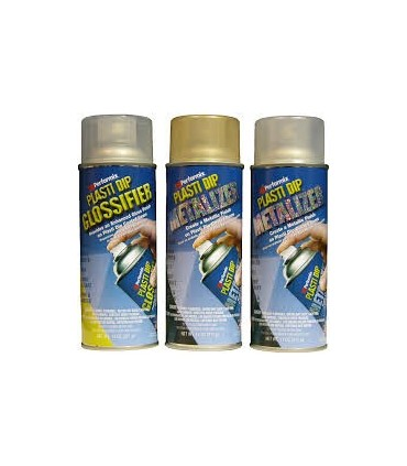 Spray Plasti Dip Vinilo Efecto Plata metalizado 400ml