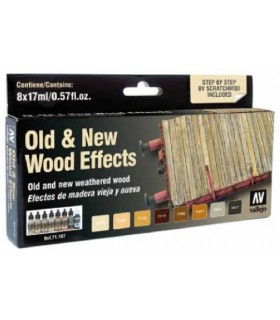 Set Model Air Vallejo Old & New Wood Effects