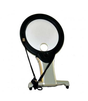 Lupa especial de 10Cm con 2 lentes y luz led