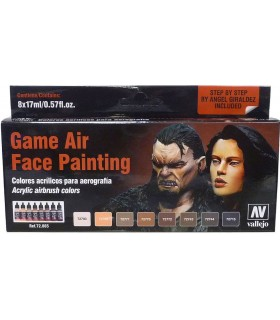 """Set Game Air Face Painting """"by Angel Giraldez"""""""