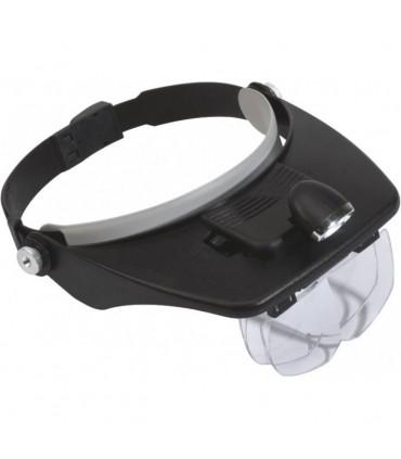 Lupa de cabeza con iluminación 09302