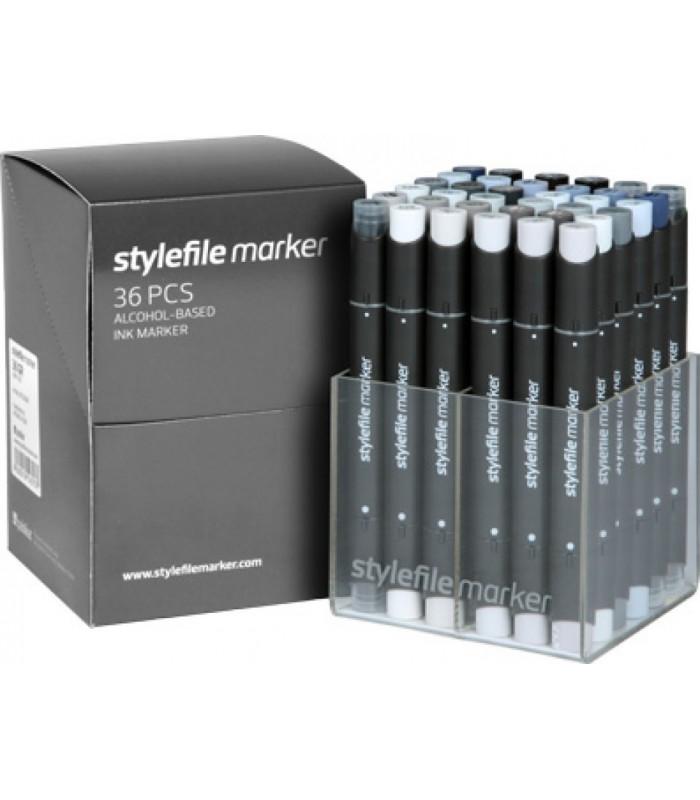 Set Stylefile gris 36u.