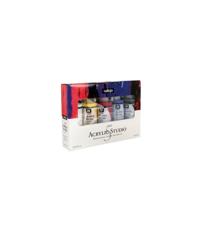 Set Acrylic Studio Vallejo 5x200ml