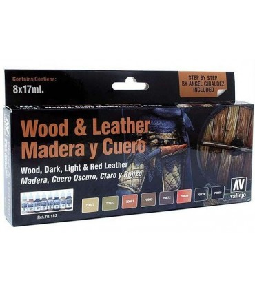 Set Madera y Cuero Model Colors 8u 70182