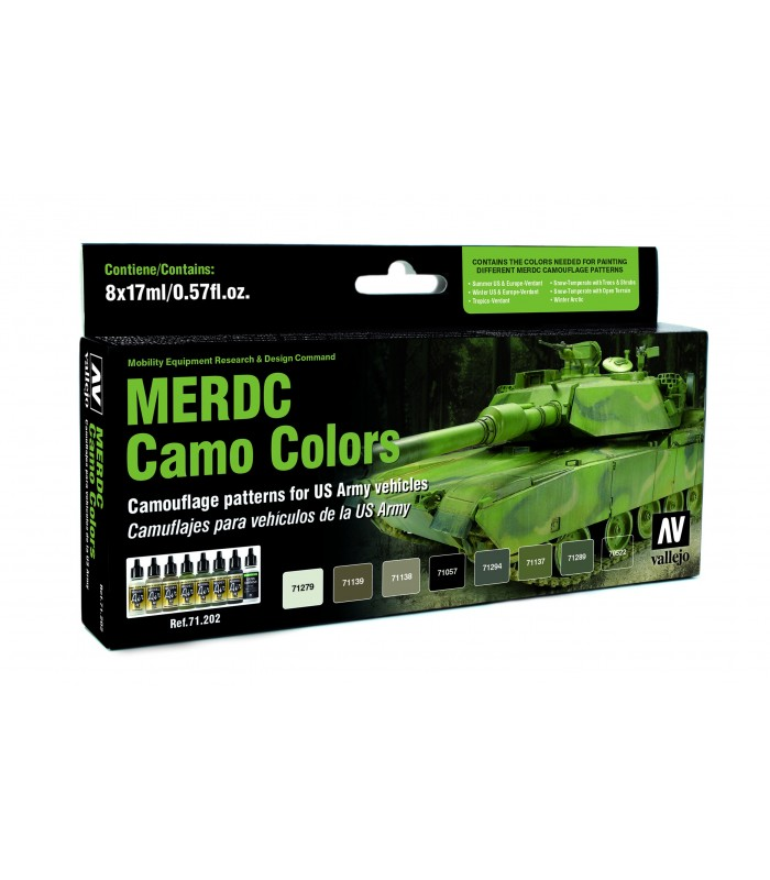 Set model air MERDC camo colors 8u. 71202 Vallejo