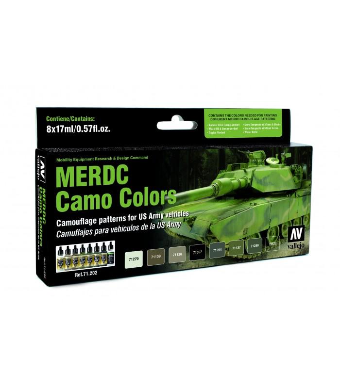 Set model air MERDC camo colors 8u. 7122 Vallejo