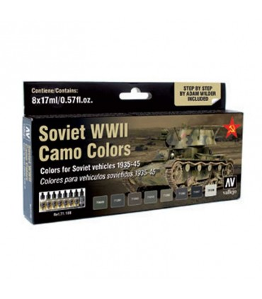 Set model air Soviet WWII Camo Colors 71188 Vallejo