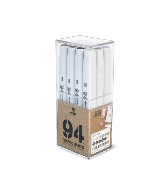 MTN Pack 94 Graphic Marker Grey 12 uds