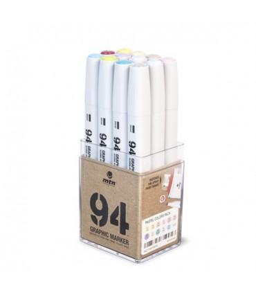 MTN Pack 94 Graphic Marker Pastel 12 uds